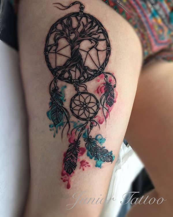 Significato e Idee  Tatuaggio Acchiappasogni: Significato, 50 immagini a cui ispirarsi
