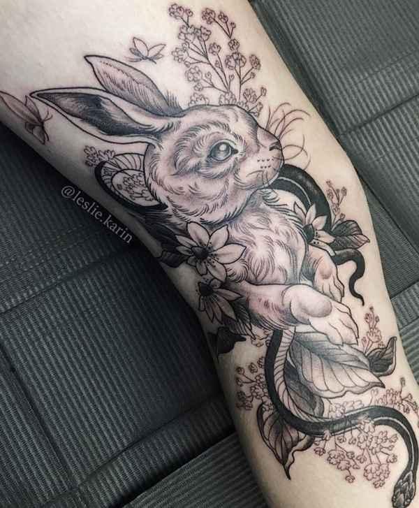 Animali Significato e Idee  Tatuaggio Coniglio: Significato, Idee e Foto