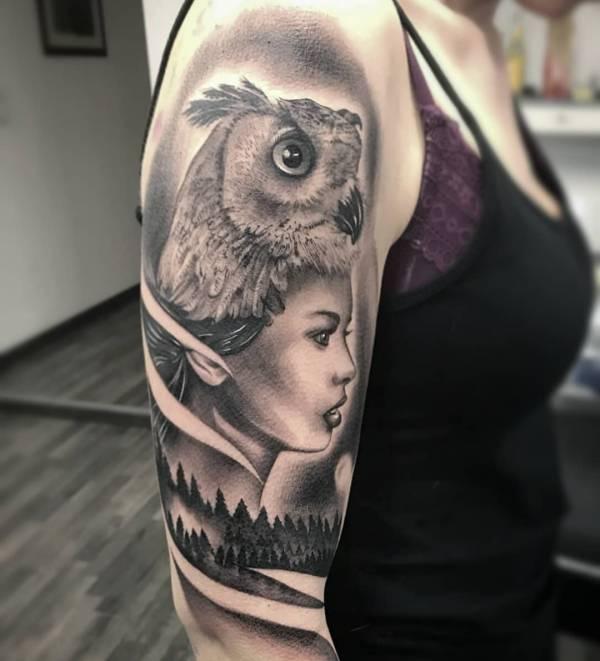 Animali Significato e Idee  Tatuaggio Gufo: Foto, Significato, Idee
