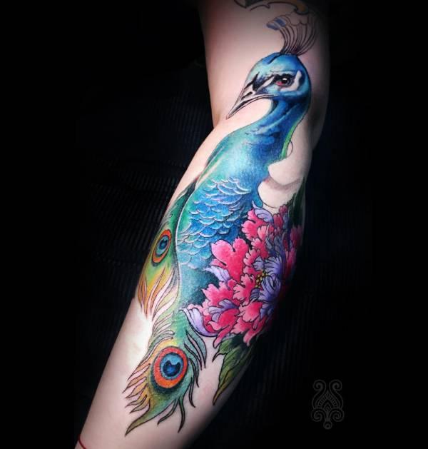 Animali Significato e Idee  Tatuaggio Pavone: Foto, Significato, Idee