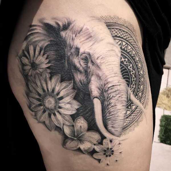 Animali Significato e Idee  Tatuaggio Elefante: Significato, Ispirazioni e Foto