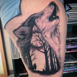 Tatuaggio Lupo Piccolo Stilizzato