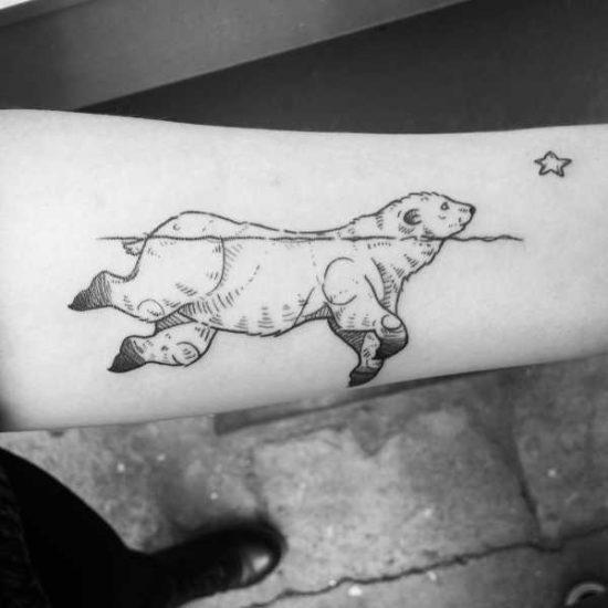 Tatuaggio orso polare significato idee e foto tatuaggio
