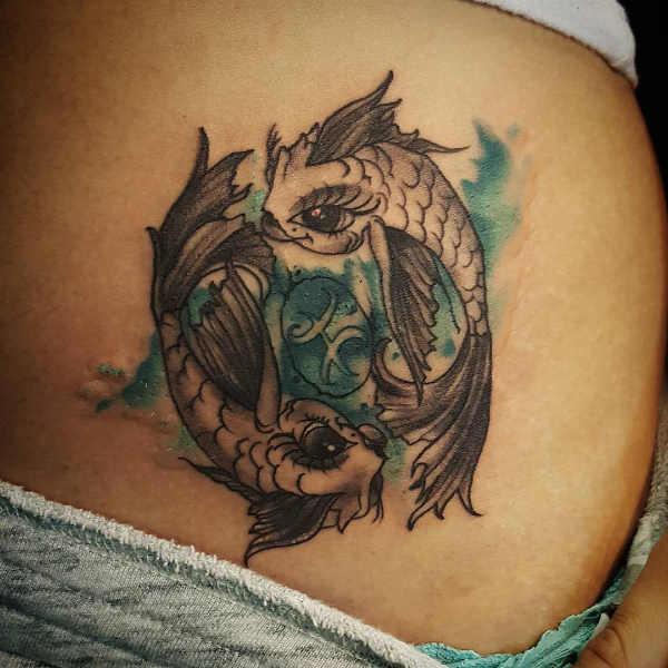 Significato e Idee Tatuaggi dei segni zodiacali  Tatuaggio Segno Zodiacale dei Pesci: Significato, Idee e Foto