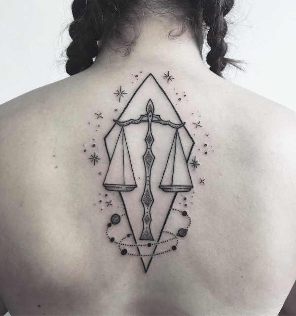 Significato e Idee Tatuaggi dei segni zodiacali  Tatuaggio Segno Zodiacale della Bilancia: Significato, Idee e Foto