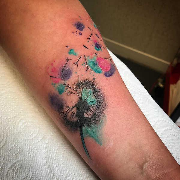 Significato e Idee Tatuaggi floreali  Tatuaggio Soffione (Dente di Leone): Significato, 50 ispirazioni